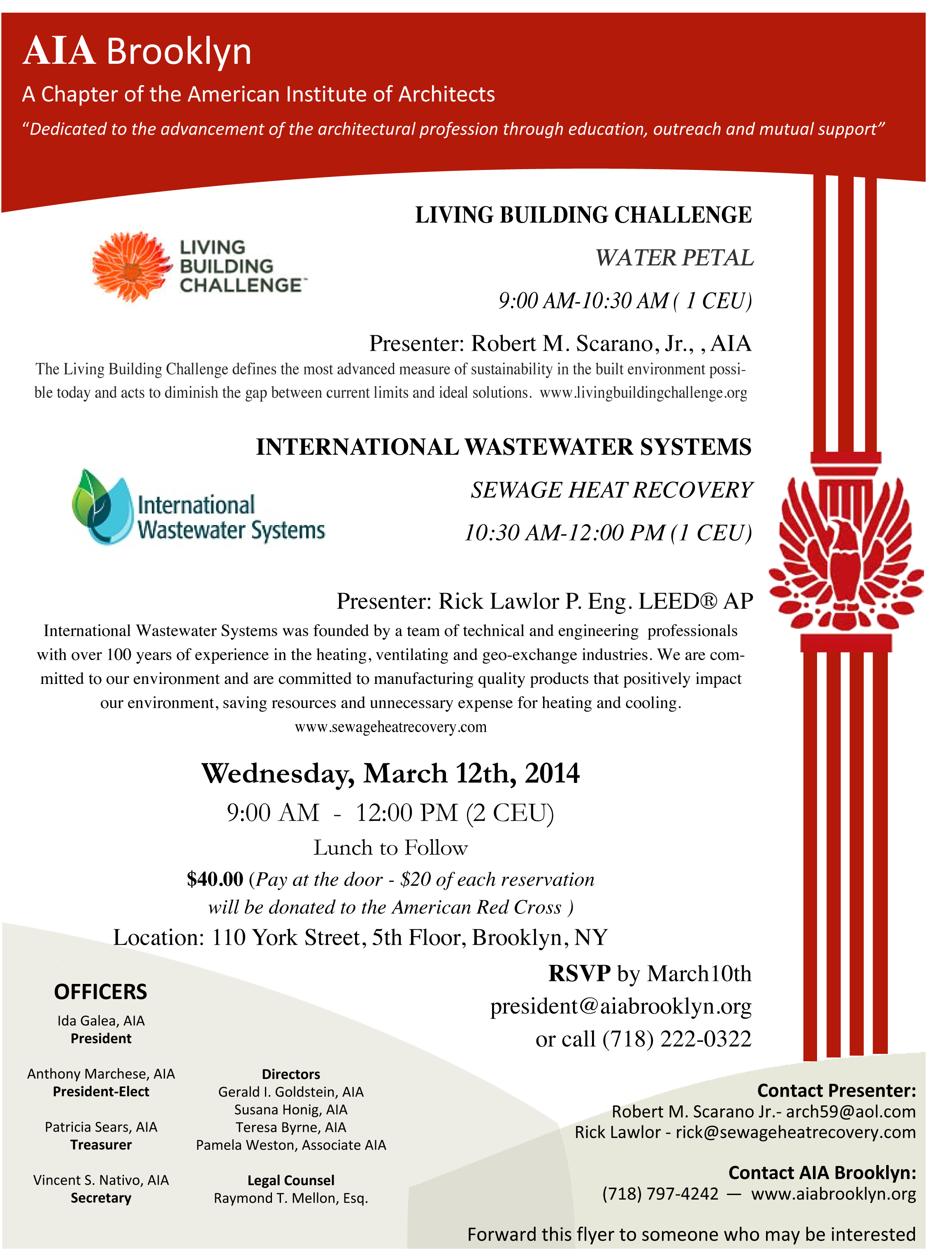 Water Lecture - March 12