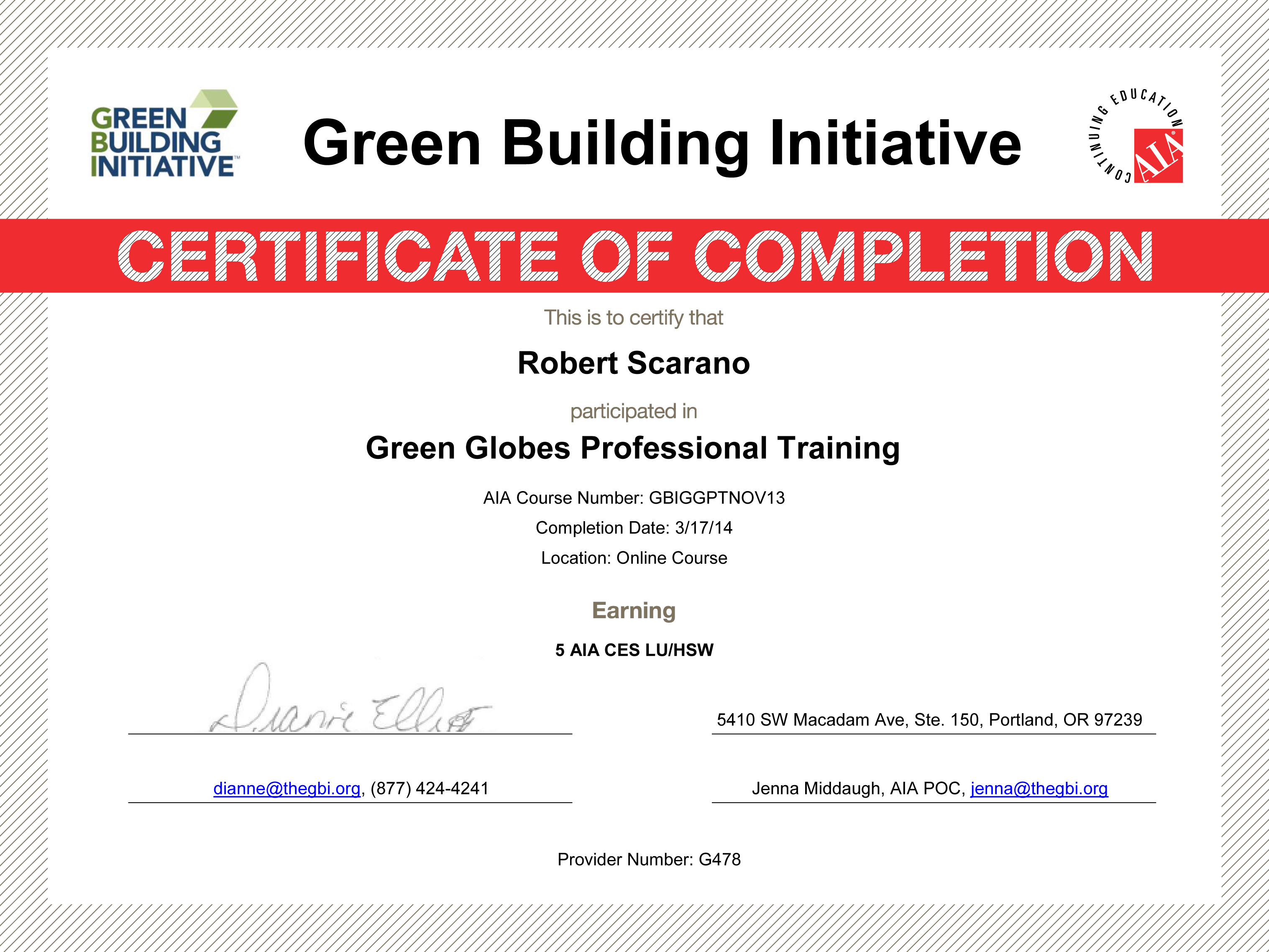Bright n green certifications awards green building initiative green globes professional certification yadclub Choice Image