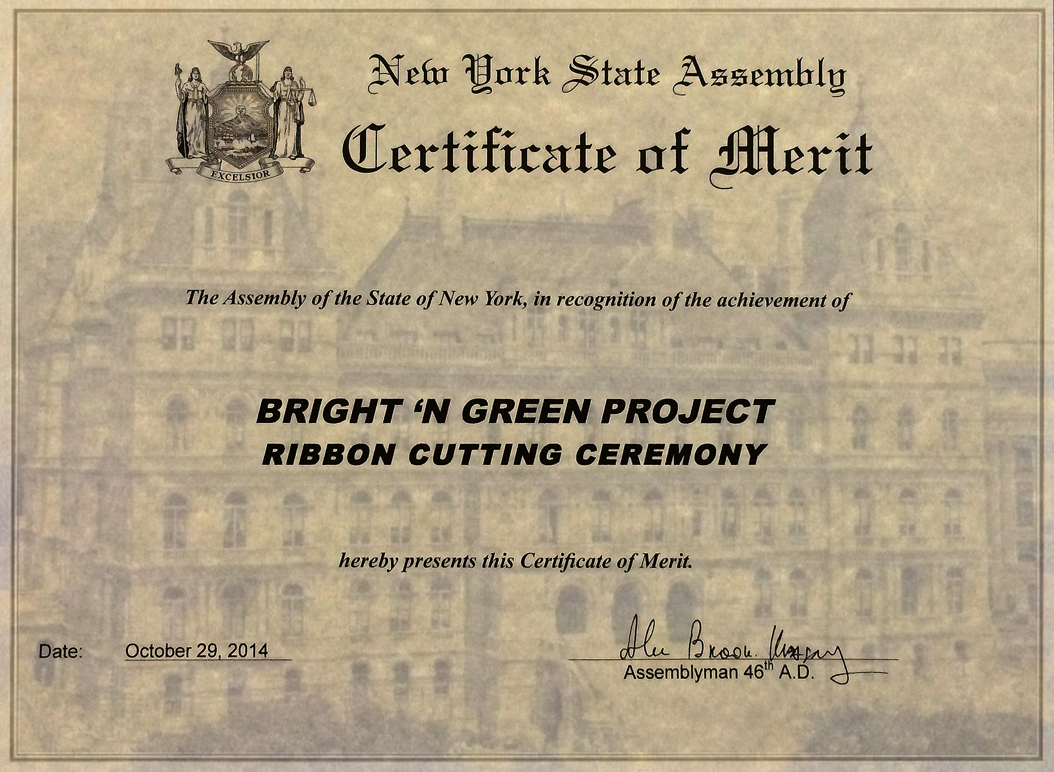 Bright N Green Awards Certifications